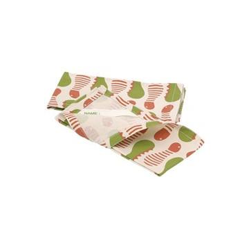 Lot 2 serviettes Set coton recyclé CHENILLES
