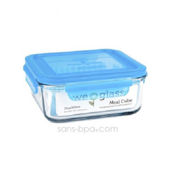 Contenant verre Meal Cube 850ml - Azur