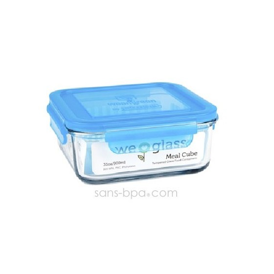 Contenant verre Meal Cube 900ml - Carotte